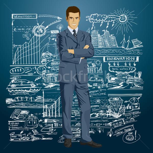 Vector Businessman In Suit Stock photo © leedsn