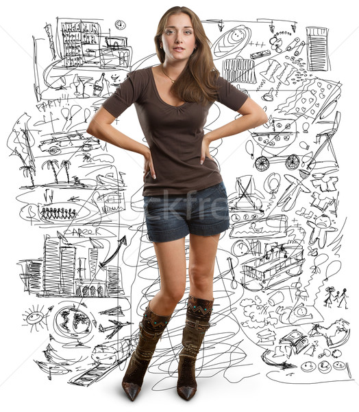 Foto stock: woman looking on camera
