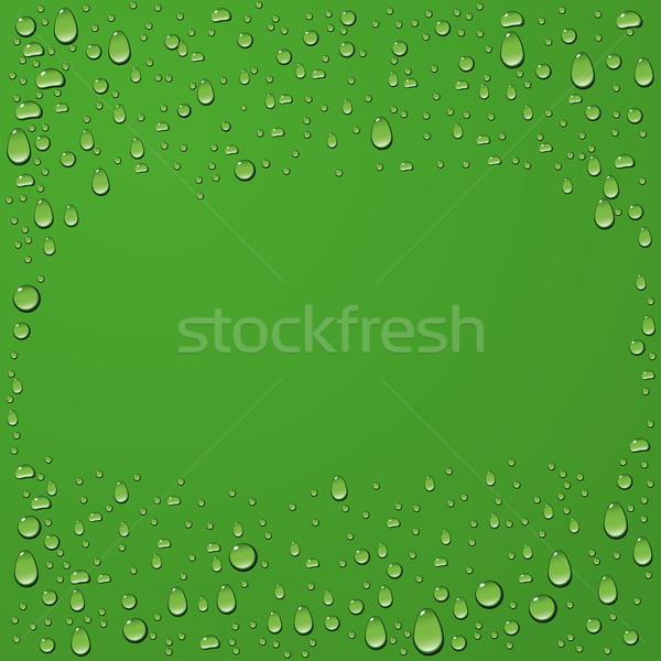 Vízcsepp zöld vektor nyár víz természet Stock fotó © leedsn