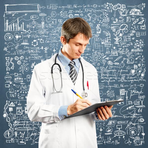 Doctor Man With Write Board Stock photo © leedsn