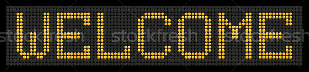 yellow button board word welcome Stock photo © leedsn