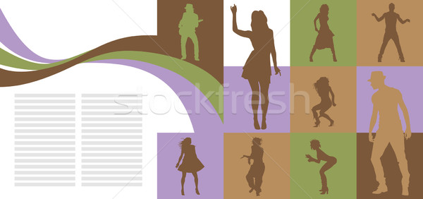 Stock photo: Card with dancing people