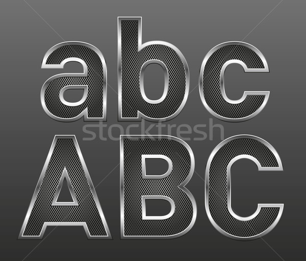 metal letters big and small Stock photo © leedsn