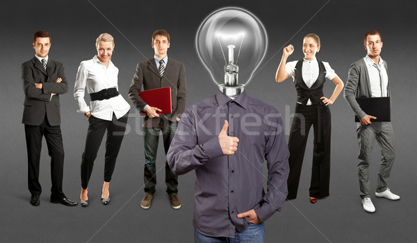 Business Team With Lamp Head Stock photo © leedsn