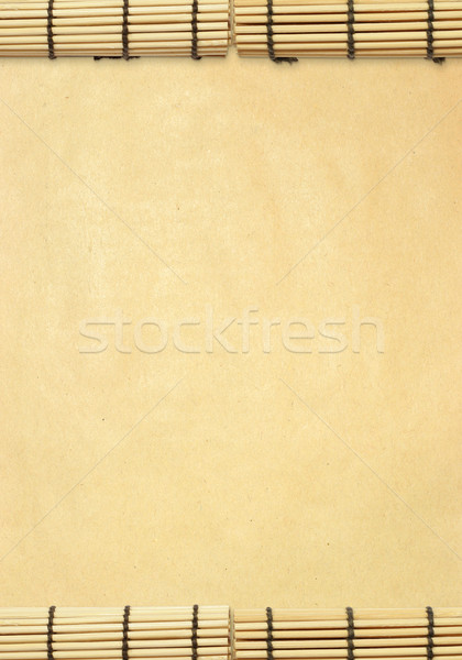 background with susi roll and old paper Stock photo © leedsn