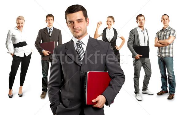 Business team verschillend achtergronden man zakenman team Stockfoto © leedsn