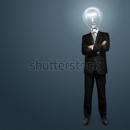 лампы голову бизнесмен служба стороны человека Сток-фото © leedsn