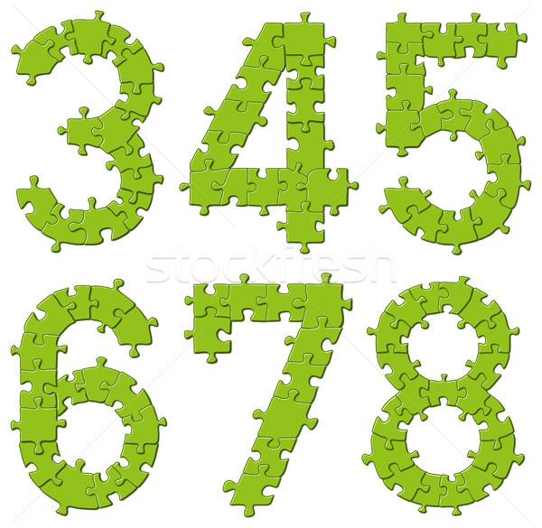 Stok fotoğraf: Bilmece · alfabe · harfler · vektör · ayarlamak