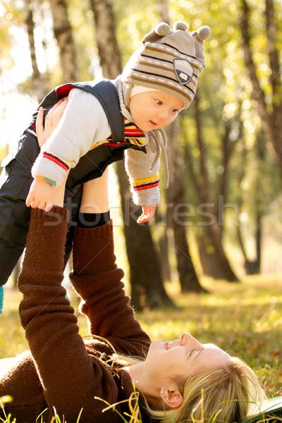 赤ちゃん 屋外 近い 自然 幸せ 子 ストックフォト © leedsn