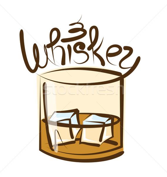 Vector Glass of Whiskey Stock photo © leedsn