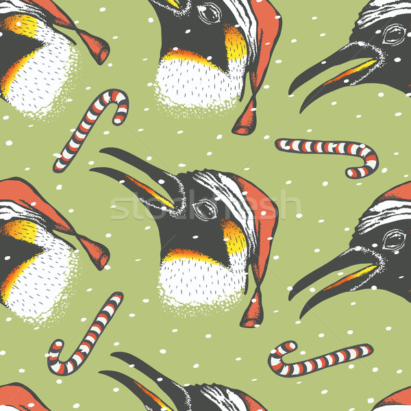 Penguin vector illustration Stock photo © leedsn