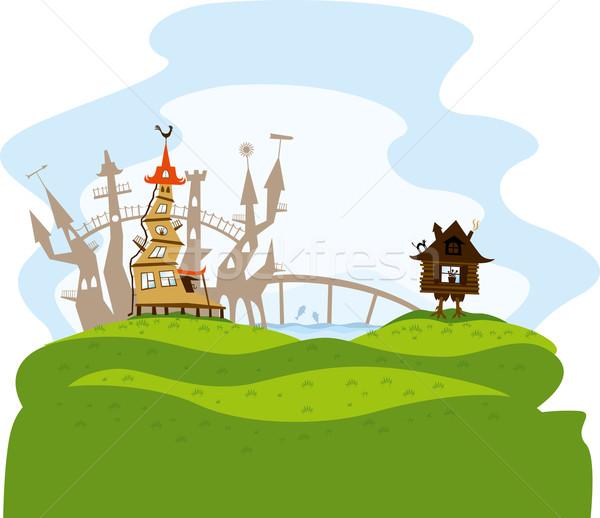 fairytale city Stock photo © leedsn