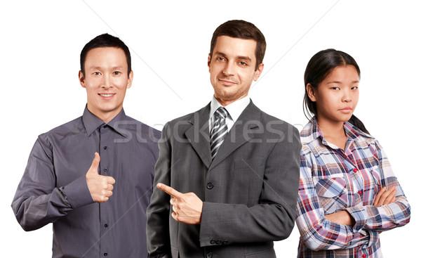 ストックフォト: アジア · チーム · ビジネスマン · 男性 · ビジネスマン · スーツ