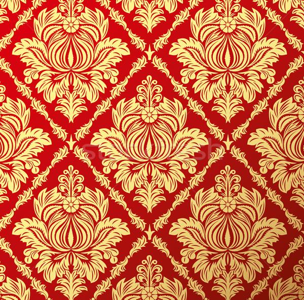 Kwiatowy wektora starych tapety bezszwowy Zdjęcia stock © leedsn