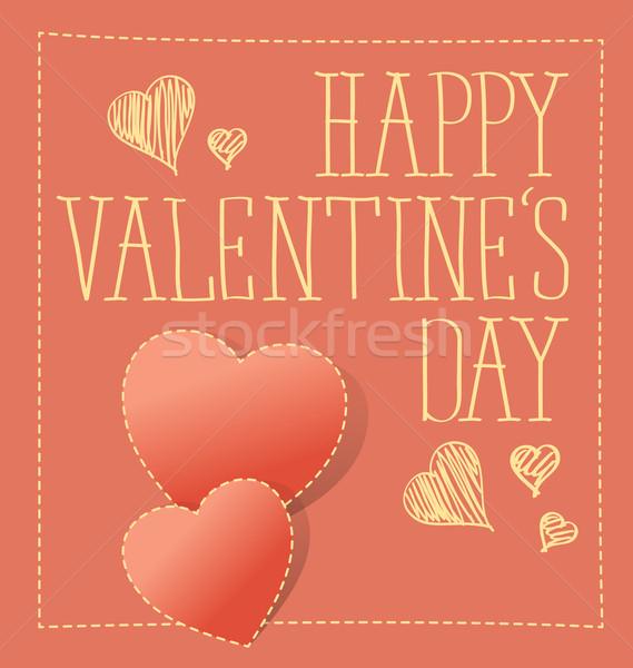 ストックフォト: ベクトル · カード · 中心 · バレンタインデー · 結婚式 · 愛