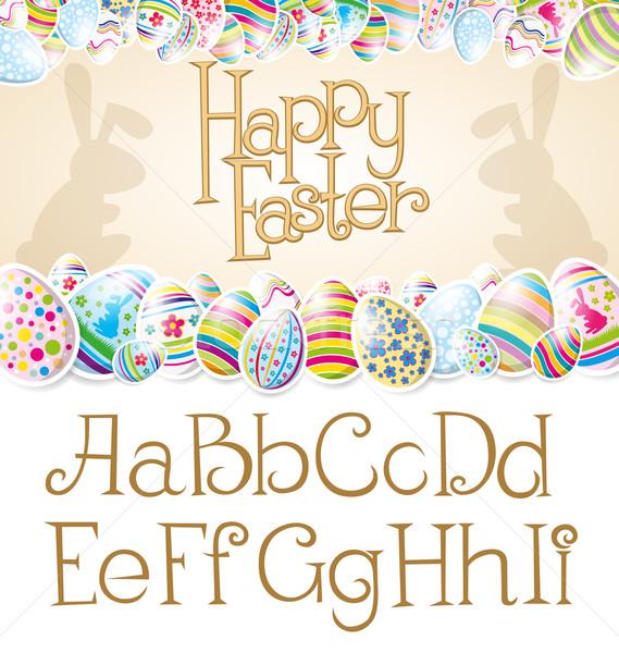 Vector Easter Card Stock photo © leedsn