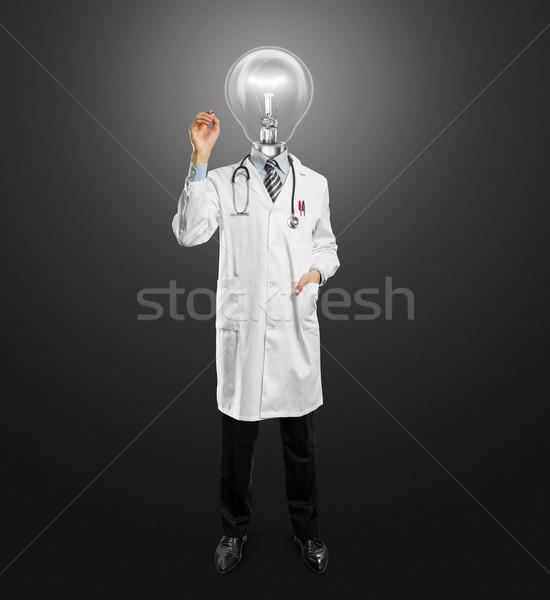 Zdjęcia stock: Lekarza · mężczyzna · piśmie · coś · znacznik · szkła