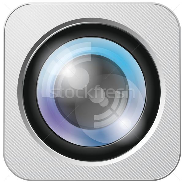 Ikona wektora app warstwy Zdjęcia stock © leedsn