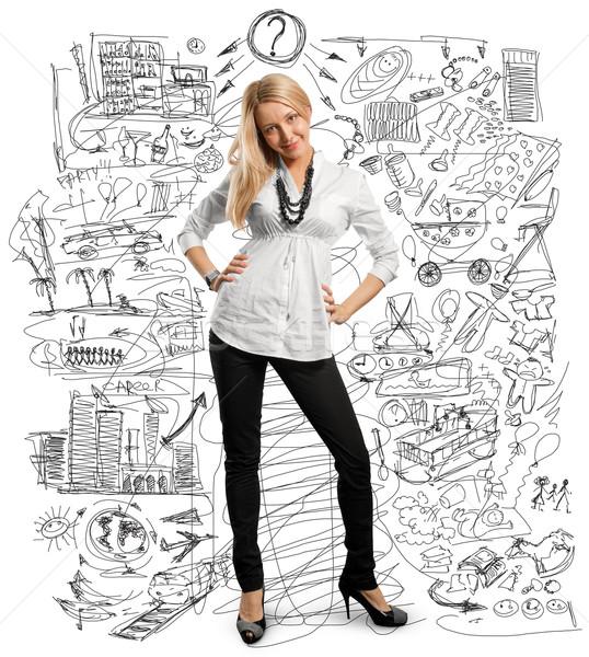 young businesswoman Stock photo © leedsn