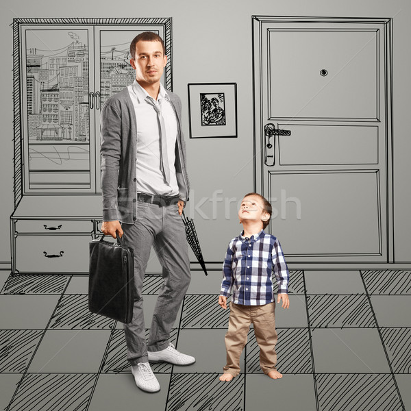 Father And Baby Son Stock photo © leedsn