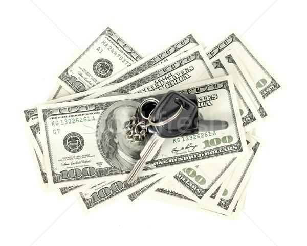 США долларов ключи от машины изолированный белый ключевые Сток-фото © leedsn