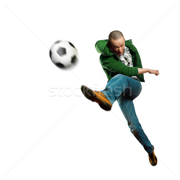 asian soccer player  Stock photo © leedsn