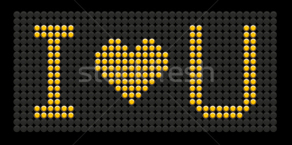 yellow button board words i love you Stock photo © leedsn
