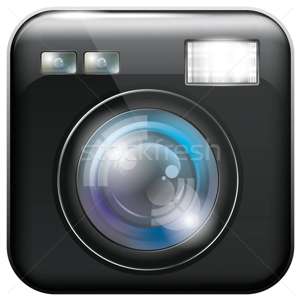 App Icon with Camera Lens and Flash Light Stock photo © leedsn