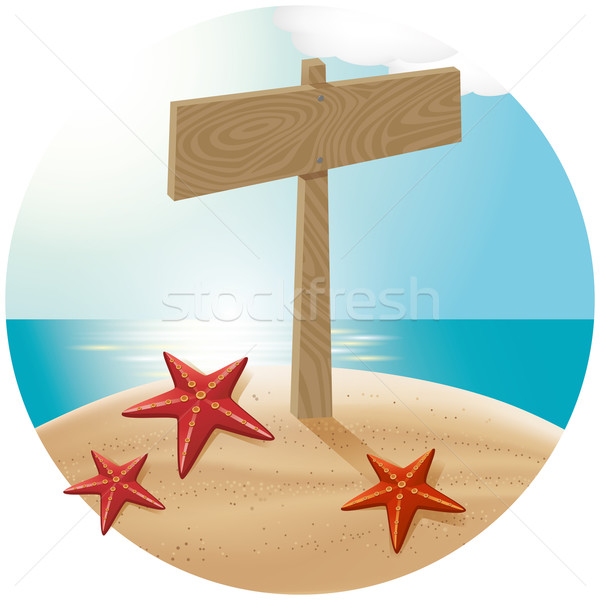 Guidepost At The Sea Beach 04 Stock photo © leedsn