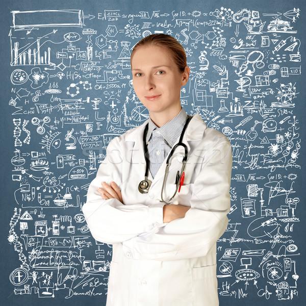 doctor woman smile at camera Stock photo © leedsn