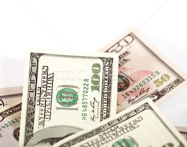 аннотация долларов белый один сто бизнеса Сток-фото © leedsn