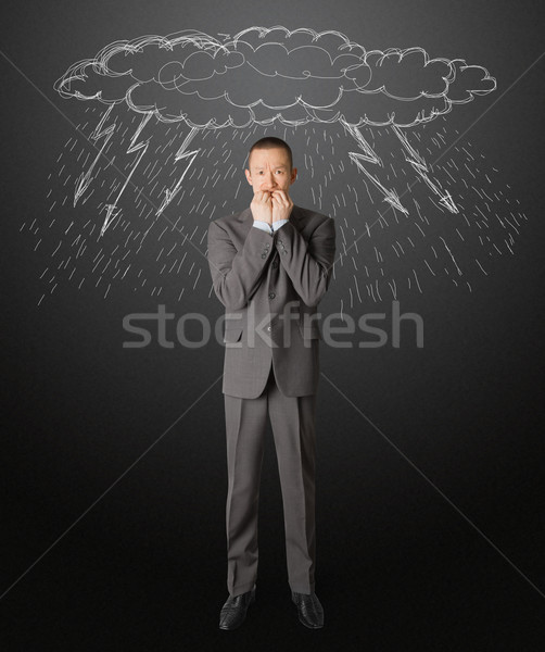 scared businessman Stock photo © leedsn