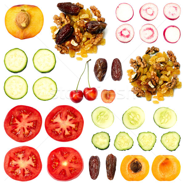 Set of Fruits and Vegetables Stock photo © leedsn