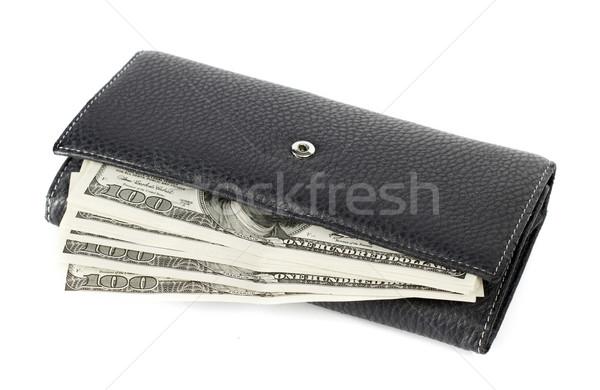 США долларов бумажник изолированный белый Финансы Сток-фото © leedsn