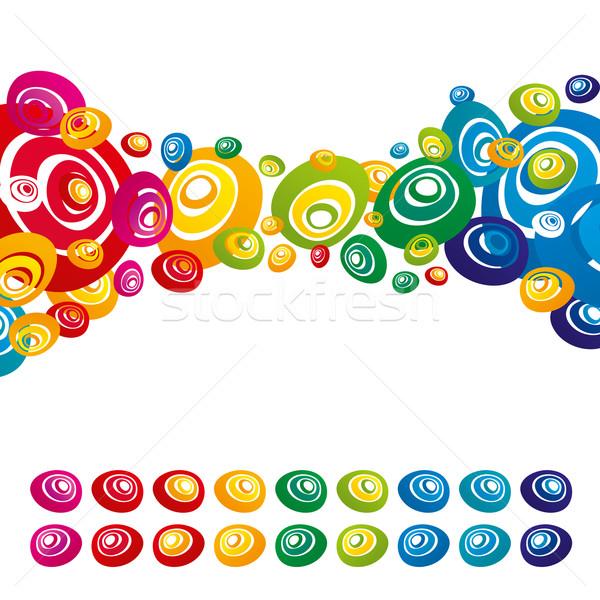 Vetor abstrato cor flores projeto elementos Foto stock © leedsn