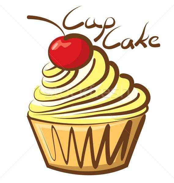 Vector Cupcake Stock photo © leedsn