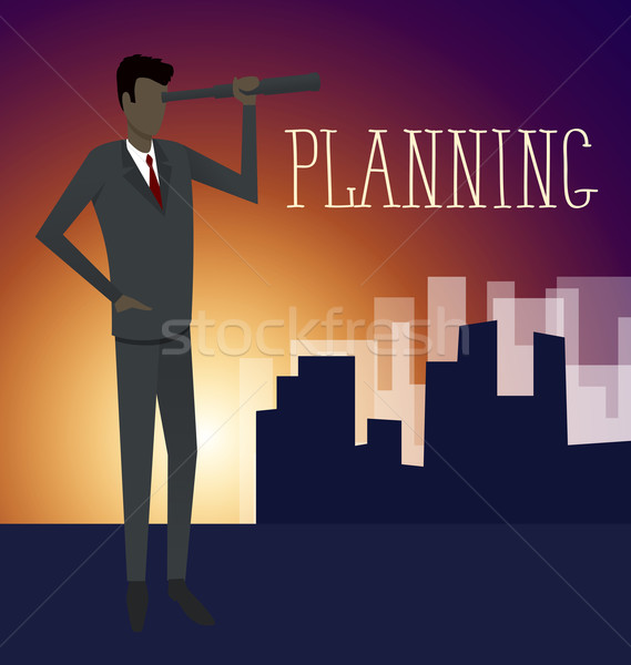 Vector Flat Business Concept Stock photo © leedsn