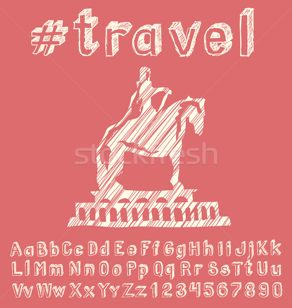 Travel concept with monument Stock photo © leedsn