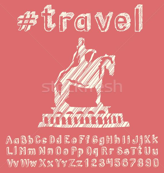 путешествия вектора стороны шрифт бизнеса земле Сток-фото © leedsn