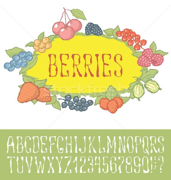 Bezszwowy jagody wzór wektora strony chrzcielnica Zdjęcia stock © leedsn