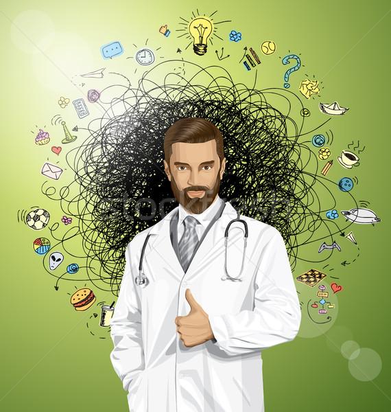 Vector Doctor With Stethoscope Stock photo © leedsn