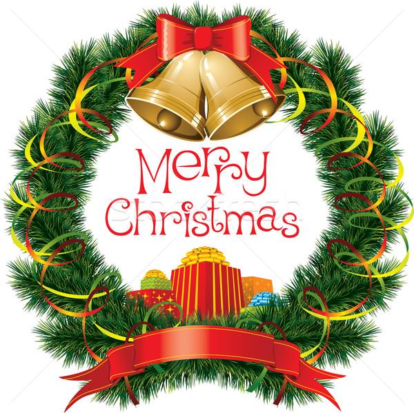 Noël arbre de noël vecteur décorations hiver amusement Photo stock © leedsn