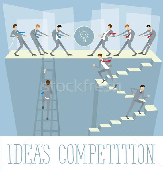 Vector Flat Business Concept Stock photo © leedsn