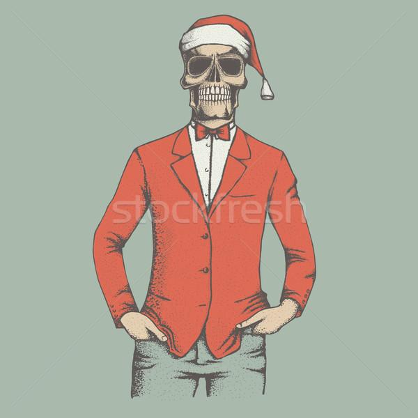 Vector skull illustration Stock photo © leedsn
