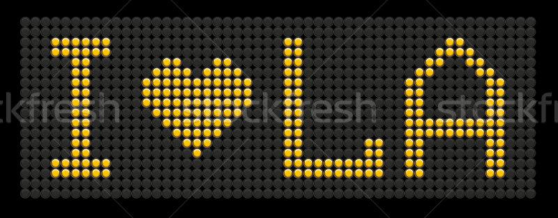 yellow button board words i love LA Stock photo © leedsn