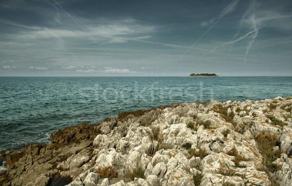 adriatic sea's uninhabited island Stock photo © leedsn