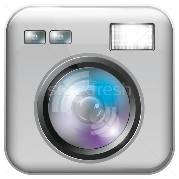 App icône flash lumière vecteur Photo stock © leedsn
