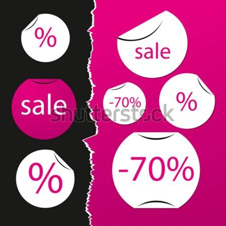 sale stickers Stock photo © leedsn