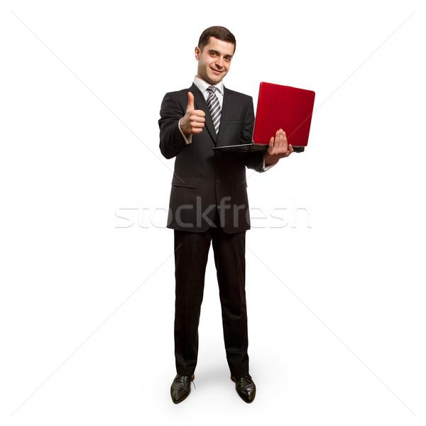 Zdjęcia stock: Biznesmen · laptop · dobrze · działalności · biuro