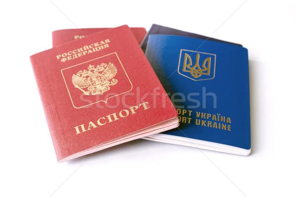 Foto stock: Ruso · aislado · blanco · conflicto · dos